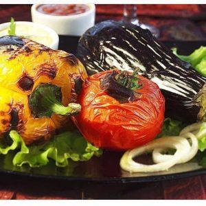 Шашлык  из ассорти  овощей