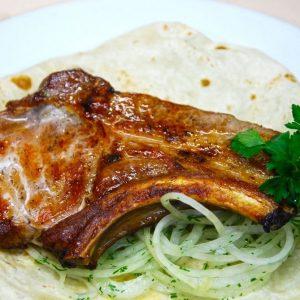 Шашлык из свиной корейки